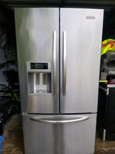 KitchenAid Stainless  steel bottom mount Fren door refrigerator
