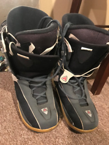 Snowboard boots sizes 8, 9 and 10.