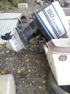 Parting out Evinrude 150