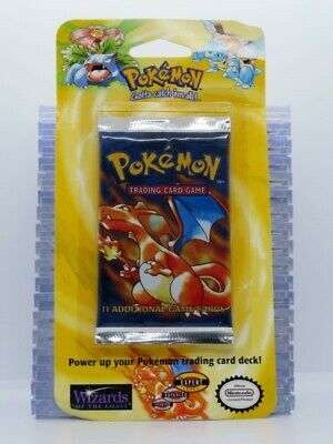 1999 Pokemon Base Set Sealed 11-Card Booster Blister Pack Charizard (C) A45