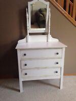 Refinished real wood antique dresser