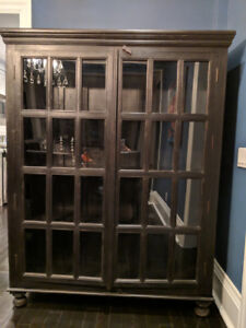 Hutch with Glass Doors. 4 shelves. Crate and Barrel