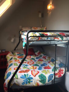 Twin over Double metal bunk bed