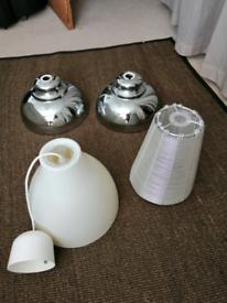 Ceiling lamp shades x 4