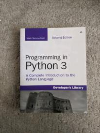 Programming in python 3 book