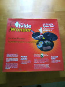 Devide Wonder tri-pan fry pan