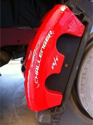 Dodge Challenger R/T Curved Caliper Brake HIGH TEMP Vinyl Decal (Any Color) 4X - High Temp Racing