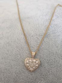 Women's diamond heart necklace