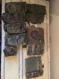 AIRSOFT MULTICAM/MTP/OLIVE MOLLE POUCHES 5.56 MAGAZINE, HE GRENADE, ADMIN PANELS