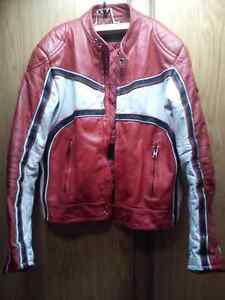 Leather jacket and Helmet for sale