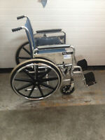 Quality Invacare wheelchair w/easy push wheels & removable arms