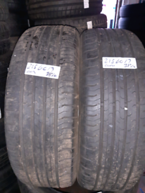 215 60 17 part worn tyres matching continental nearly new used tires