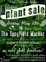 Plant donations needed for a fundraiser this Sunday, May 28th!