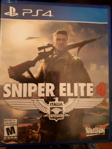 Sniper elite 4 ps4 (sell/trade)