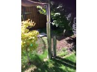 3 tube garden water feature stainless steel