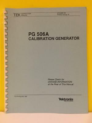 Tektronix 070-6687-00 Pg 506a Calibration Generator Instruction Manual