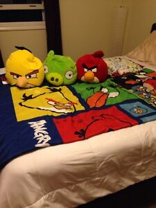 Angry birds twin bed sheet set NOW 40.00!!!