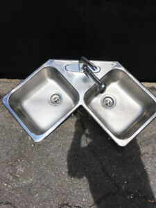 Lavabo double de cuisine - Excellente condition