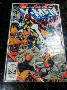 Marvel comics, xmen comics, x-men #175, 20th anniversary xmen