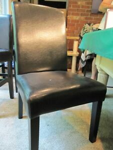 Set of Six (6) - Leather Kitchen / Dining room chairs