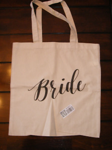 Bride tote bag - new