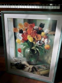 Framed print - tulips