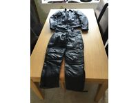 Woman's biker leathers. Jacket and trousers. Size 8-10