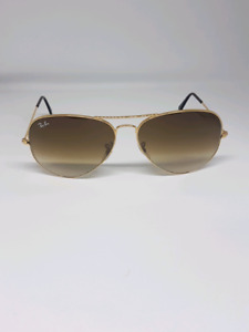 RAYBAN RB 3025 GOLD FRAME BROWN AVIATORS $60! quick sale