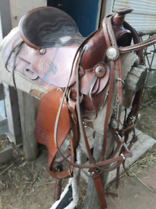 Saddles and other tack.