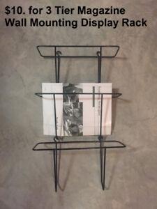$10. for 3 Tier Magazine Wall Mounting Display Rack