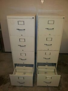Pair of 4-Drawer Vertical Filing Cabinets