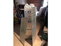 Aluminium multi-purpose ladders