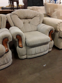 3 seater sofa with armchair £70