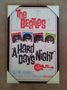 """A Hard Days Night"" Giclee canvas movie poster art"