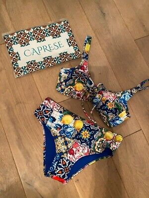 Caprese Bikini italien 46 deutsch 40 M einzigartiges Muster Instagram Zitrone