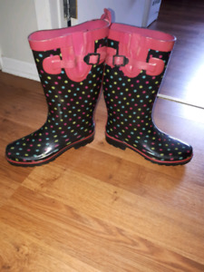 Women's rubber boots no holes great shape $20