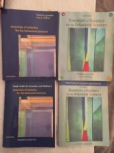 Stats textbooks for behavioural sciences 5th and 6th editions  Kingston Kingston Area image 1