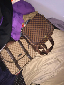 Gucci and louis vuitton bag