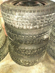 """Snow Tires for Sale - 14 and 15"""" sets (4) in Excellent Shape"""