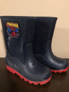 The Amazing Spiderman Navy Rubber Boots - Boys Size 11