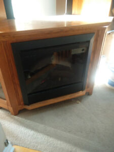 TV stand with built in fire place