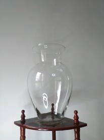 Large. Glass house flower vase.