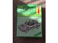 VW Golf/ Jetta mk2 Haynes manual