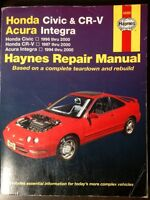 Honda Civic & XR-V Acura Integra Haynes Repair Manual 42025