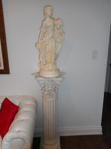 Beautiful pc. of large figurine and pillar