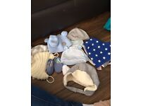 Hats, mitts booties and bibs