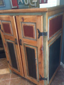 Wooden rustic cabinet