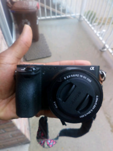 Sony A 6500 with batteries and memory cards
