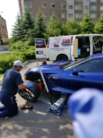 Mobile tire change