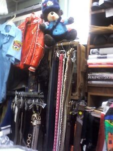 Belts, belts, belts in HEARTBEAT Thrift Store/BayView Mall